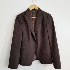 United Colors of Benneton pinstriped blazer